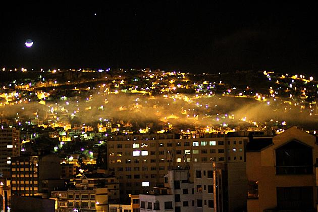 Fog Over La Paz