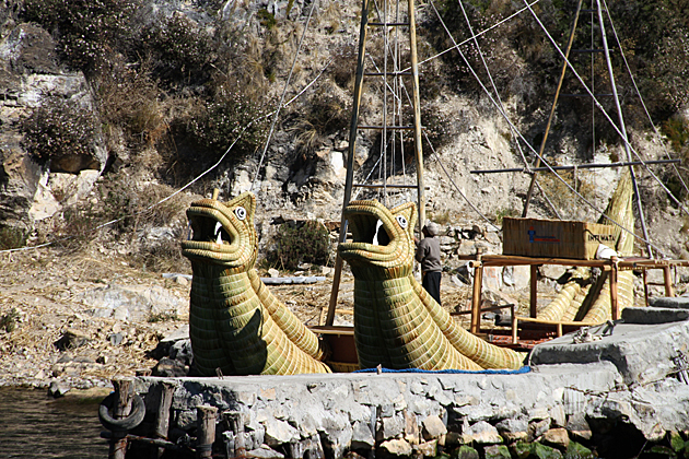 Straw Boats Bolivia Titikaka