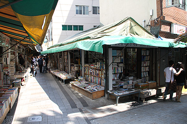 Buying Books in Busan