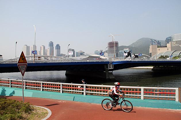 Biking in Busan