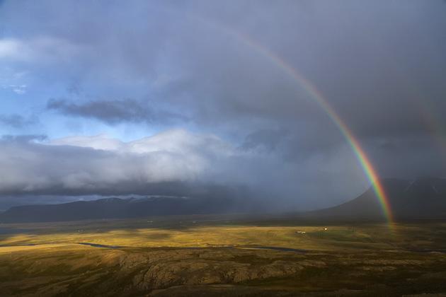 Regenbogen Iceland