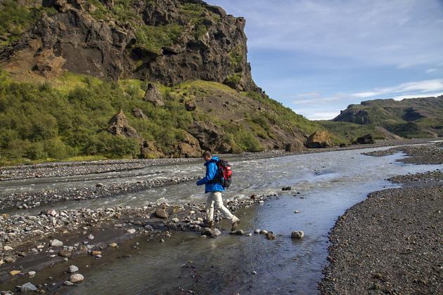 Þórsmörk Fluss Überquerung