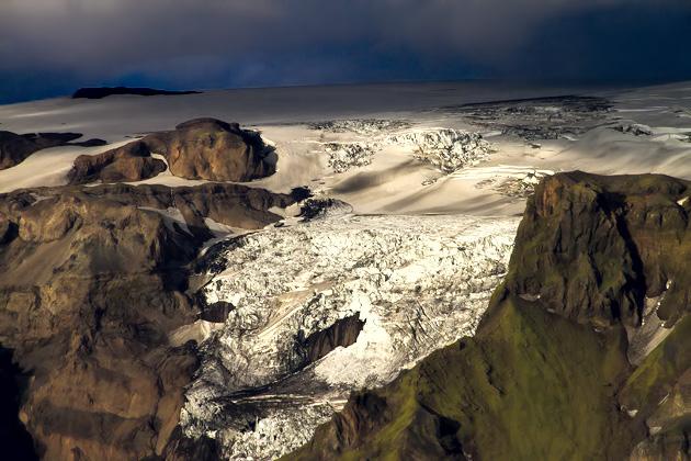 Glacier Near Þórsmörk