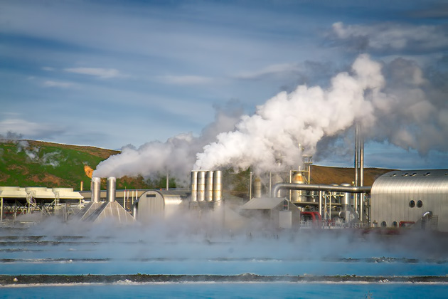 Geothermal Power Plant Blue Lagoon