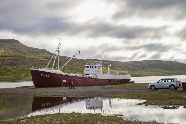 Stranded Ship In Iceland