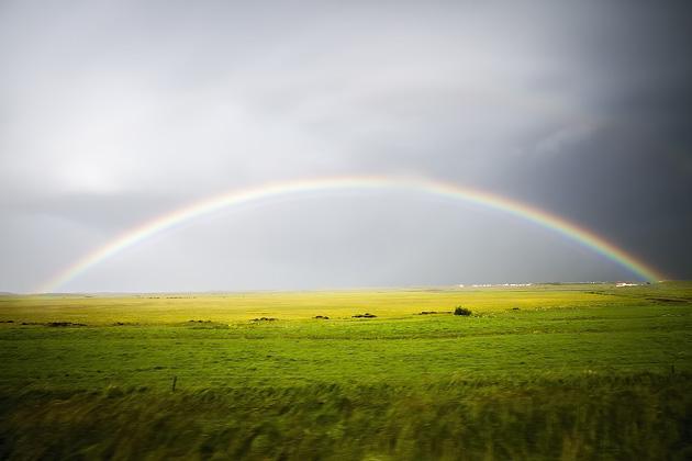 Rainbow In Iceland