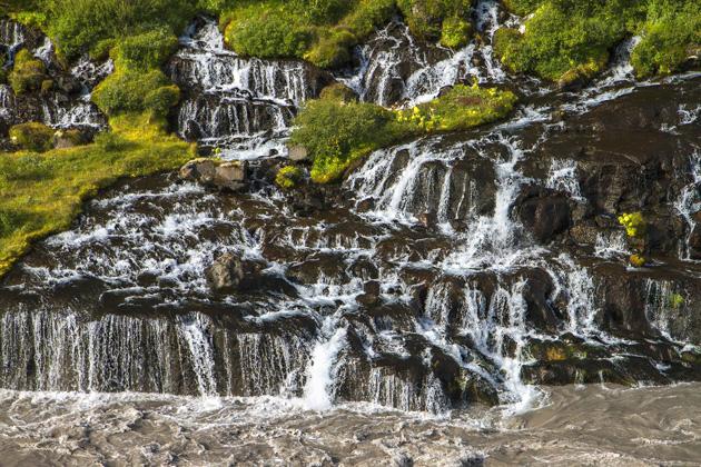 Hraunfoss Waterfall