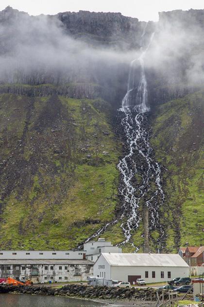 Lightning Djúpavík Waterfall