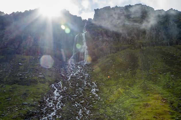 Amazins Sun Waterfall