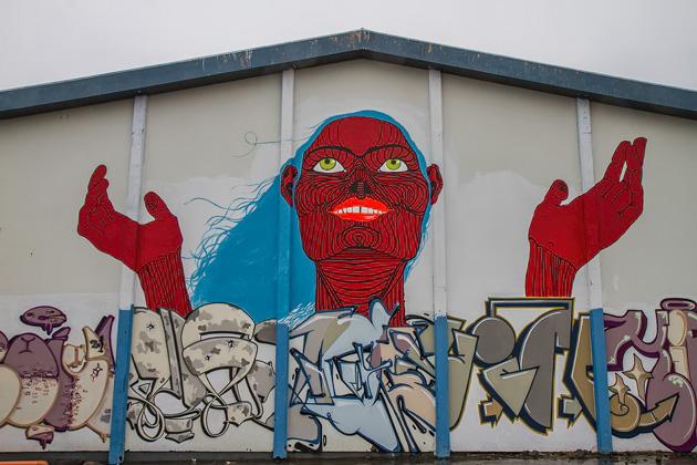 Straßenkunst Island