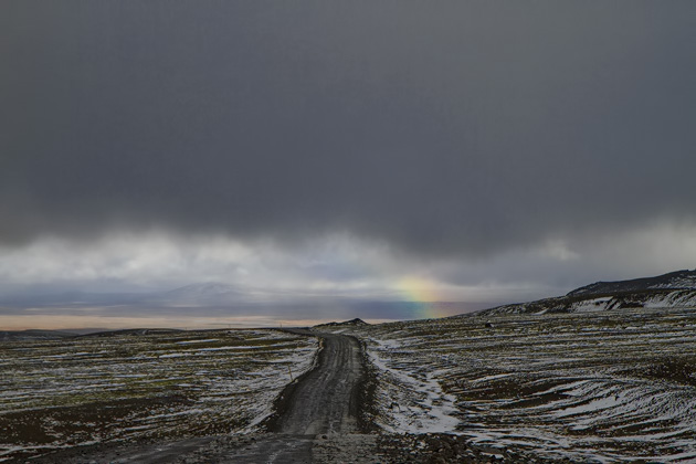 Rainbow At The Horizon Iceland