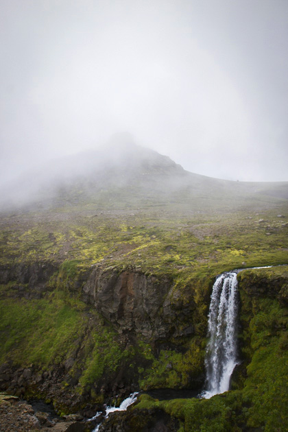 Iceland Fog Waterfall