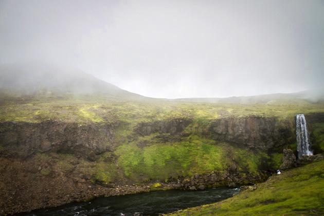 Fog Falls Iceland