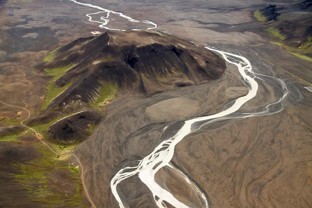 River around Volcano