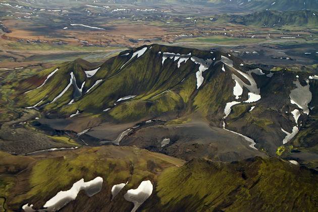 Green Ash Mountains Iceland