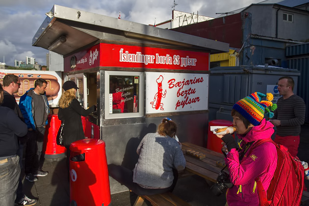 Famouse Hot Dog Stand Reykjavik