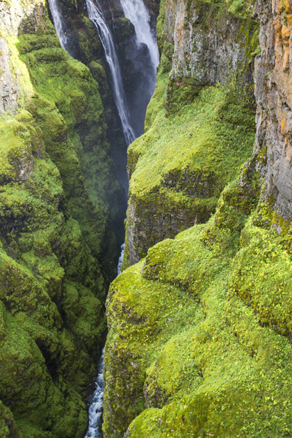 Glymur Waterfall Canyon