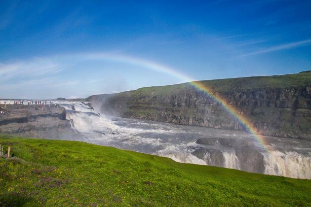 Rainbow Gullfoss Iceland