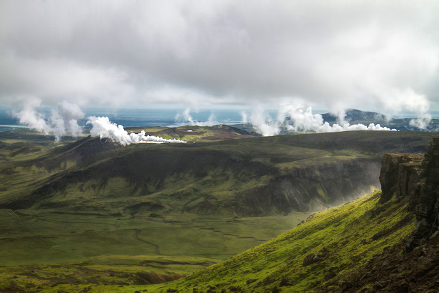 Gothermal Mist Iceland