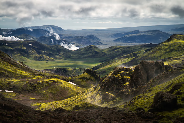 Steam Valley Iceland