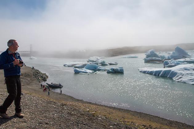 Fog Glacier Lagoon Iceland