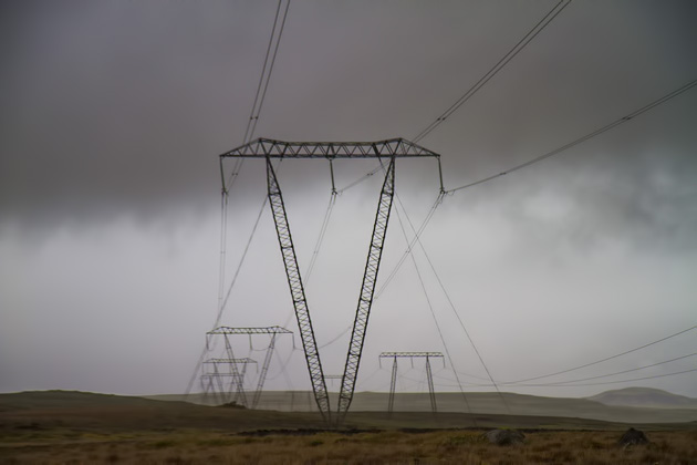 Powerl Lines Iceland
