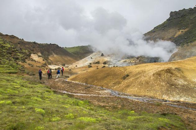 Reykjadalur Heiße Quelle