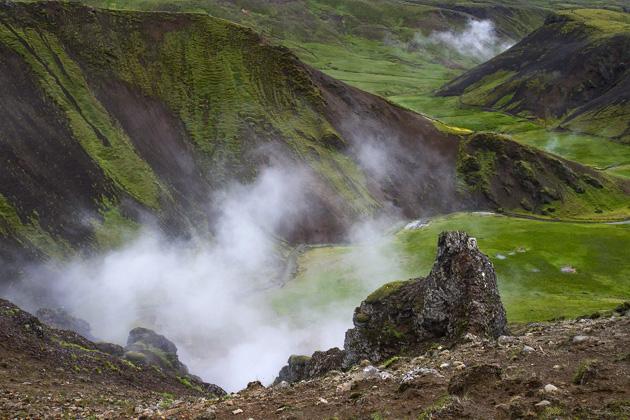 Valley Steam Iceland