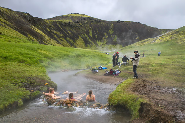 Relaxing In Iceland