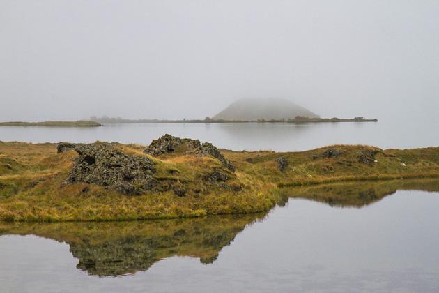 Fog Lake Myvatn