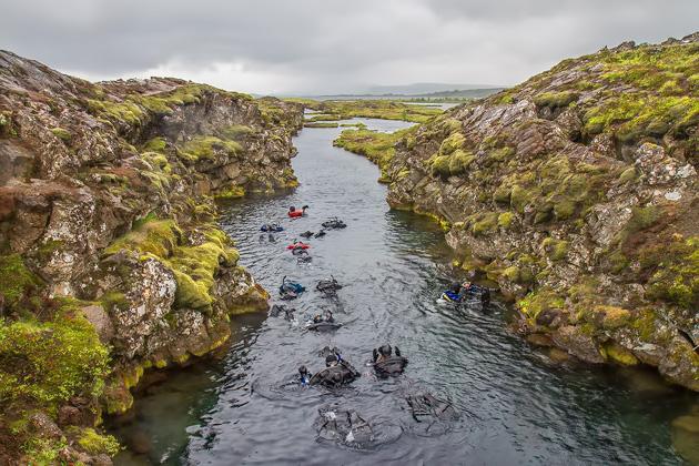 Snorkeling Silfra Fissure