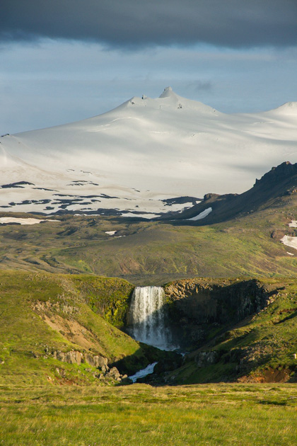 Snekkjufoss Waterfall