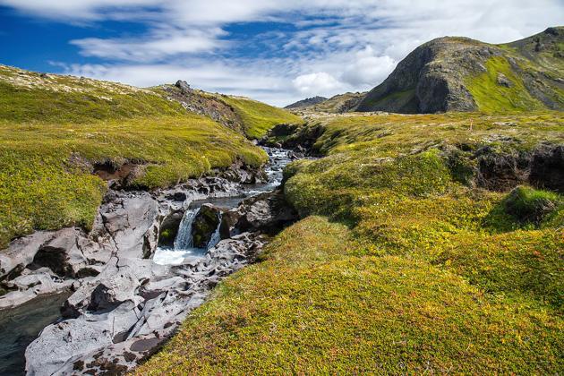 Iceladn Waterfall hike