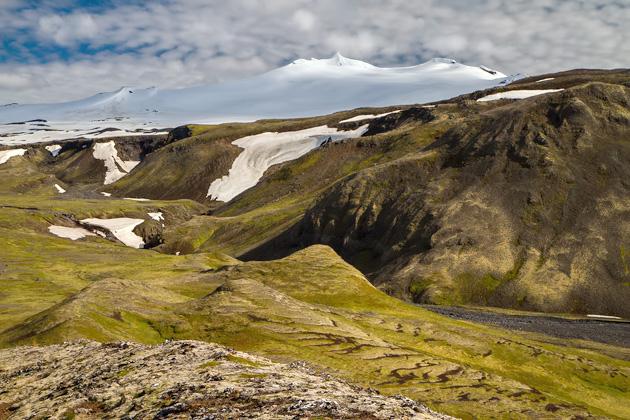 Snekkjufoss Glacier