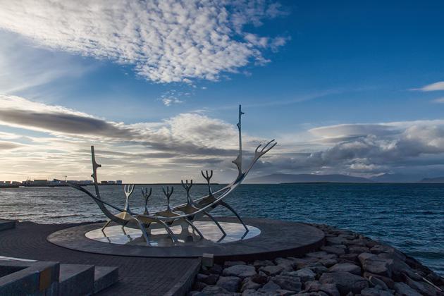 Viking Boat Sculpture Reykjavik