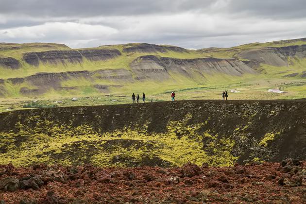 Visting Crater Iceland