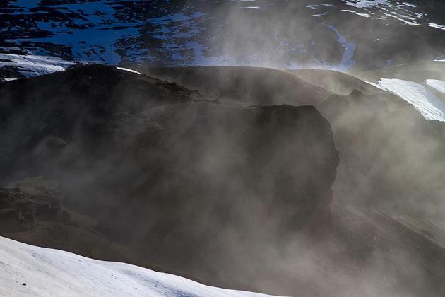 Steam Lava Iceland