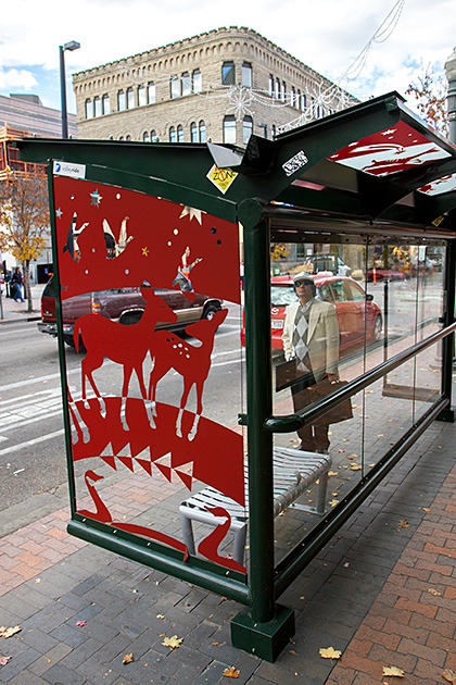 Deer-Bus-Stop-Idaho