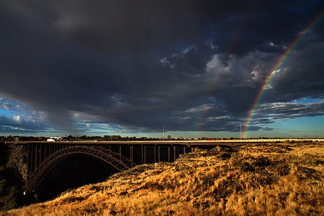 double--Rainbow-Idaho
