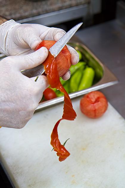 Peeling Tomato