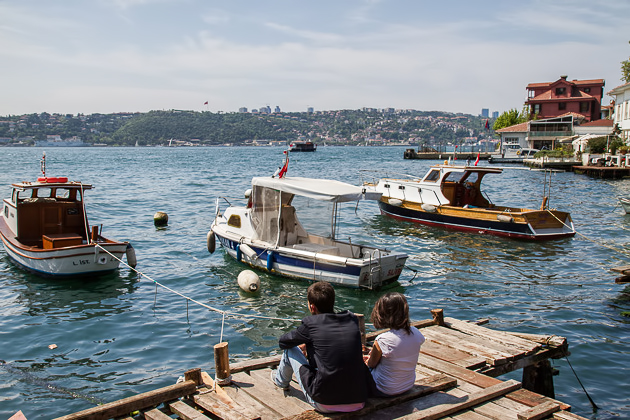 Relaxing at the Bosphorus