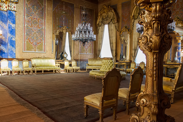 Beylerbeyi Palace Golden Chairs