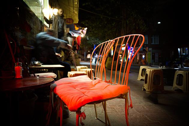 Cihangir Square Night Istanbul