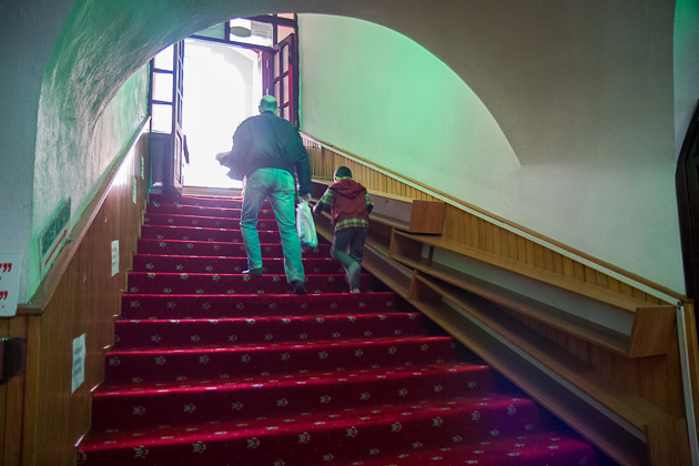 Leaving Mosque
