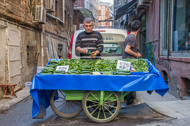 Cucumber Seller Istanbul