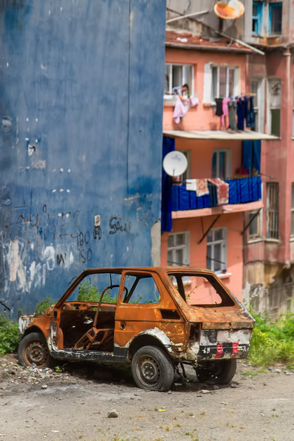 Wrecked Car Art Istanbul