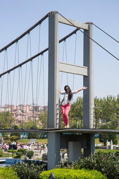 Miniaturk Istanbul Bosphorus Bridge