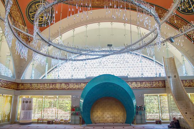 Inside Şakirin Camii