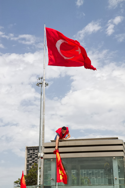 Turkish Flag Occupy Istanbul
