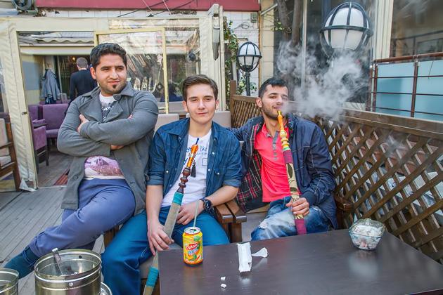 Men Smoking Shisha